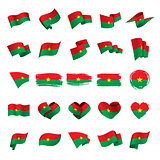 Burkina Faso flag, vector illustration
