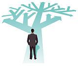 Businessman direction future illustration,