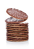 Chocolate cookies biscuit breakfast thins