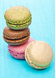 French luxury colorful macarons dessert cakes
