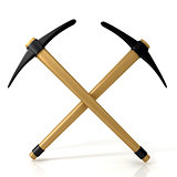 Pickaxes, crossed. 3D