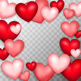 Many Hearts Transparent Background
