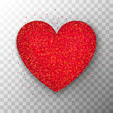 Red Glitter Heart Transparent Background