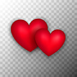 Two Red Hearts Transparent Background