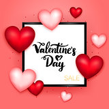 Valentines Day Sale Postcard Template