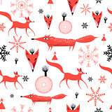 New Years pattern of red foxes