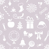 Cute christmas vector seamless pattern