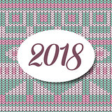 Happy new year 2018 sweater pattern