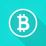 Vector crypto currency bitcoin icon