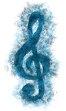 clef on white background