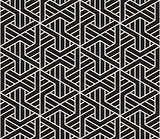 Vector seamless pattern. Modern stylish texture. Repeating geometric tiling from striped triangle elements