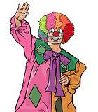 Happy Colorful Clown