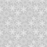 Snowflakes seamless pattern. New Years snow endless background, winter repeating texture. Christmas backdrop. Vector illustration.