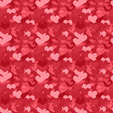 Valentines Day seamless pattern. Heart endless background. Romance, love repeating texture. Holiday wallpaper, paper, backdrop. Vector illustration.