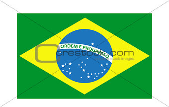 Brazil flag icon. Isolated on white background. Vector illustration.