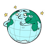 character planet earth thinks. ecology and environment