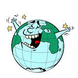 Earth Day. Happy joyful planet