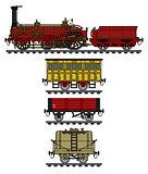 The historical steam train