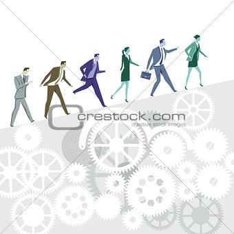 Business career symbolic illustration