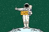 Astronaut hitch rides on Jupiter