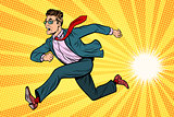businessman running, business concept