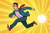 businessman running, business concept