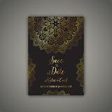 Decorative save the date invite