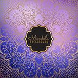 Elegant mandala background
