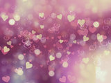 Valentine's Day background with heart bokeh lights
