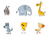 Six characters for kids