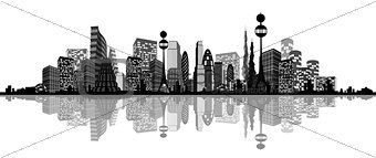 Abstract silhouette of city
