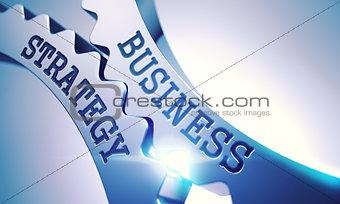 Business Strategy - Mechanism of Metallic Cog Gears. 3D.