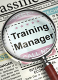 Training Manager Wanted. 3D.