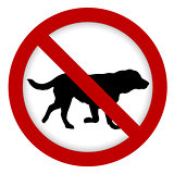 Prohibition dog sign  illustration