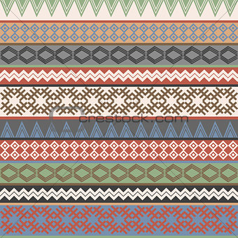 Vintage Ethnic geometric motifs background