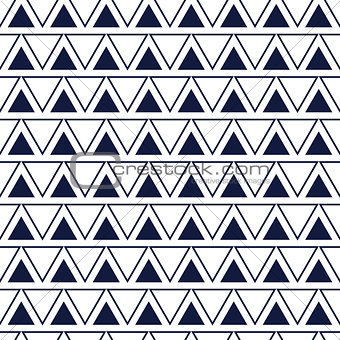 Line triangle seamless vector pattern.
