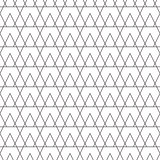 Line triangle tiny seamless vector pattern.