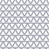 Line triangle blue seamless vector pattern.
