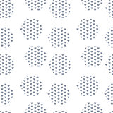Textured rhombuses blue seamless vector pattern.