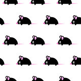 Cute kid mice design seamless vector pattern.