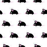 Cute kid mice design seamless vector pattern.