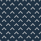 Pixel triangles seamless vector pattern.