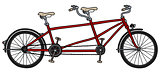 The red tandem bike
