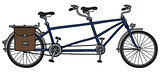 The blue tandem bike