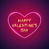 Happy Valentines Day Heart Neon Sign