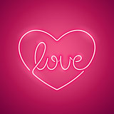 Love Neon Sign Pink
