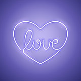 Love Neon Sign Purple