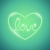 Love Neon Sign Green