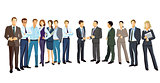 Group picture with diverse business people, illustration