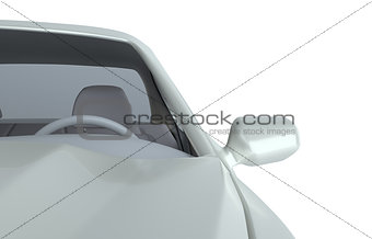 Car isolated on white